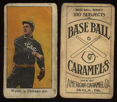 Nice looks like Ed Walsh on a 1910 E-90 Baseball Card.  Great Pitcher As Player Chicago White Sox (1904 –1916) Boston Braves (1917) As Manager Chicago White Sox (1924) Hall of Fame 1946?
