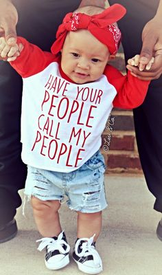"""For no particular reason, I just thought this would be a super funny & cute quote to put on a children's t shirt! It reads, """"Have your people call my people™"""", for all of those busy tots that don't have the time to handle their own business dealings ;) LOL. This gender neutral baby, toddler, & kidsboy orgirl shirtmakes an excellent gift for any child in your life. I am a huge fan of inspirational and funny quotes and I express that through my clothing that Idesign."""