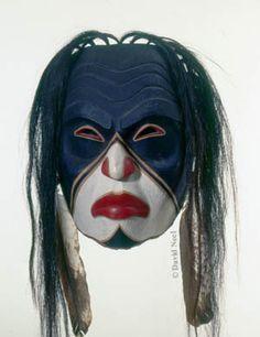 Warrior mask by David Neel, Northwest Native