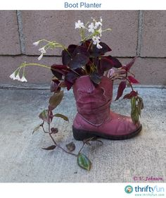 This is the other worn out boot from our great granddaughter. The birdfeeder mate was sent in earlier. I love it that she is already recycling her things.
