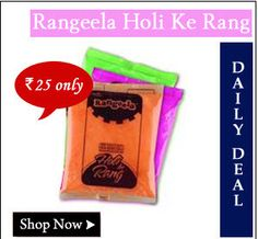 Rangeela non-toxic holi colors worth Rs. 75 at Rs. 25