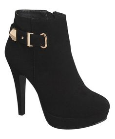 Look at this TOP MODA Black Taila Bootie on #zulily today!