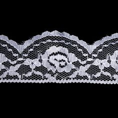Adele White Lace Trim