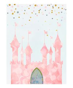 Look at this Pink Castle Wall Art on #zulily today!