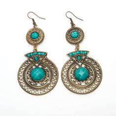 Silver and teal chandelier earrings india body decor sitara handcrafted green crystal and brass chandelier earrings india overstock shopping mozeypictures Images