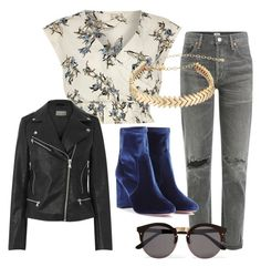 """""""Untitled #36"""" by le-crow on Polyvore featuring River Island, Citizens of Humanity, Aquazzura, Illesteva and Rebecca Minkoff"""