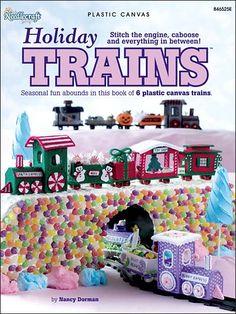 Plastic Canvas - Holiday & Seasonal Patterns - Christmas Patterns - Holiday Trains