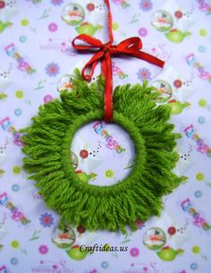 christmas wreath would work using the ring from the milk jug also instead of a curtain ring.