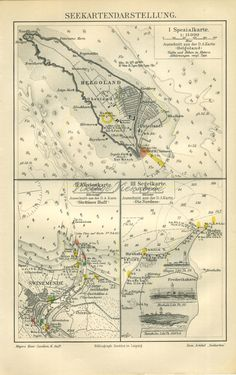 on Etsy. Nautical Prints, Nautical Home, Nautical Chart, North Sea, Antique Maps, Skagen, Old Antiques, Archipelago, Im Not Perfect