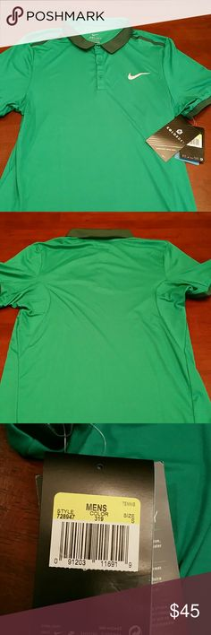 [NIKE] ADV SOLID POLO 728947-319 SMALL - New! Nike Court Tennis Polo New with tags Size Small - approximate dimentions provided in photos Dri-Fit Technology Nike Shirts Polos