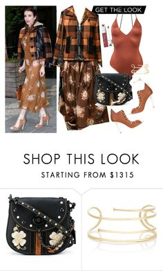 """""""Get the look Emma Roberts"""" by thestyleartisan ❤ liked on Polyvore featuring Coach 1941, Coach, Jennifer Fisher and Christian Dior"""