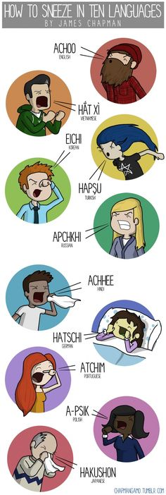 How to sneeze in 10 languages