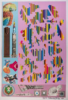 Eduardo Paolozzi, Human Fate and World Powers from Zero Energy Experimental Pile, 1969–70. Courtesy YSP © The Eduardo Paolozzi Foundation
