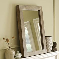 Parsons Wall Mirror - Natural Solid Wood | west elm