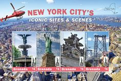 World Stamp Show NY 2016 Grenada Stamps