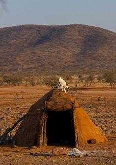 Shelter For Goats . Himba Village . Namibia