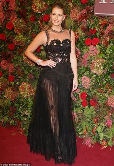 Upbeat: There was no sign of jet-lag on Sunday evening as Lady Kitty Spencer made a glamorous appearance at the Evening Standard Theatre Awards 2018 – just hours after returning to London from China Royal Fashion, Love Fashion, Fashion Models, Womens Fashion, Princess Diana Niece, Kitty Spencer, Spencer Family, English Fashion, Royal Dresses