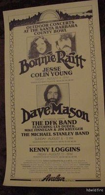 BONNIE RAITT 1972 70s BLUES CONCERT POSTER DAVE MASON | eBay  --Okay. So this poster doesn't blow me away, but I LOVE Bonnie Raitt. And the calligraphic type is nice.