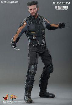 """X-Men - Zukunft ist Vergangenheit: Wolverine ... http://spaceart.de/produkte/xmn004.php ... Großartige Deluxe-Figur von Hugh Jackman als Wolverine zum Film """"X-Men: Zukunft ist Vergangenheit"""" (""""X-Men: Days of Future Past"""", Regie: Bryan Singer), über 30 voll bewegliche Gelenke, in sehr vielen verschiedenen Positionen aufstellbar, sehr authentisch modellierter und handbemalter Kopf (mit realistischer Haarskulptur, Gesichtsausdruck, detaillierten Falten, Bart, Mimik und Hauttextur), ..."""