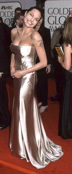 Angelina Jolie na rozdaniu Złotych Globów - 2001 rok