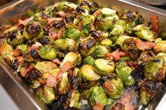 brussel sprouts - Brussel sprouts and bacon pair perfectly together, and we love them roasted to crispy perfection in the oven!