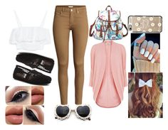 """""""#Bck2Skool"""" by dzierabington ❤ liked on Polyvore"""