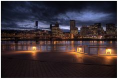 Portland at night.