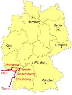 Karte Pfälzer Jakobswege