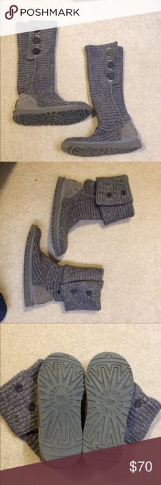 BOGO!!! Grey Cardi Uggs Grey cardi Uggs. 100% authentic. Worn very few times and still have lots of wear left. Feel free to make an offer! UGG Shoes Winter & Rain Boots