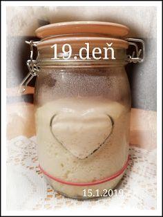 ...svet okolo mňa ...: Príprava kvásku Lievito-Madre Mason Jars, Food, Meal, Essen, Mason Jar, Hoods, Meals, Eten, Jars