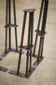 Metal Table Legs 16 Set of 4 Legs ReBar by nakedMETALstudio:
