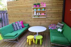 rusta upp - salon de jardin Outdoor Sofa, Outdoor Furniture Sets, Outdoor Decor, Sweet Home, Backyard Ideas, Studios, Outdoors, Design, Home Decor