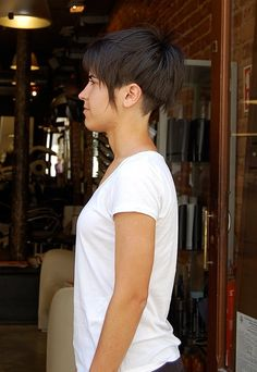 Trendy Short Haircuts for Summer Fall.  Not sure what to think about this one.