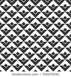 Imagens, fotos stock e vetores similares de Vector seamless geometric pattern in black and white triangles, op art background - 367154834 Geometric Patterns, Geometric Tiles, Graphic Patterns, Textures Patterns, 3d Pattern, Vector Pattern, Pattern Design, Geometric Background, Art Background