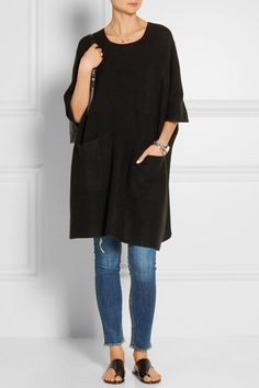 The Elder Statesman | Guatemala cashmere tunic | NET-A-PORTER.COM | I love this!  So casual and cool and cashmere!