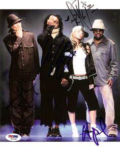 Black Eyed Peas Autographed 8x10 Photo Fergie, will.i.am, Taboo & apl.de.ap PSA/DNA #S00338