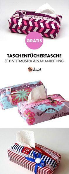 Gratis Anleitung: Taschentücher-Box selber nähen - Schnittmuster und Nähanleitung via Makerist.de