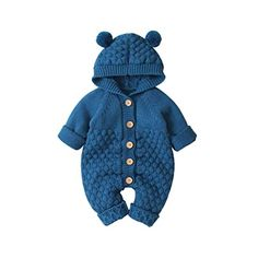 Buy Sunward Jacket for Baby Boys and Girls, 0-24 Months Newborn Infant Baby Girl Boy Winter Warm Coat Knit Outwear Hooded Jumpsuit at Amazon.in Baby & Toddler Clothing, Toddler Outfits, Girl Outfits, Toddler Girl, Bear Hoodie, Gender Neutral Baby Clothes, Baby Coat, Baby Jumpsuit, Knitted Romper