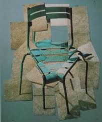 I like this montage because David has recreated the shape of the the chair, with using different photos of the chair.