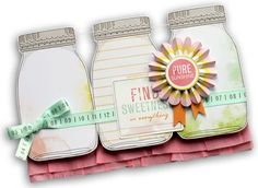 mason jar card-- got to try a variation of this with the jar stamps I have