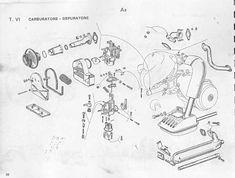 Schemi, Esplosi, Diagrammi, Spaccati Vespa Small Frame