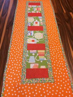 Brightly Colorful Quilted Table Runner Topper Kitchen Dining