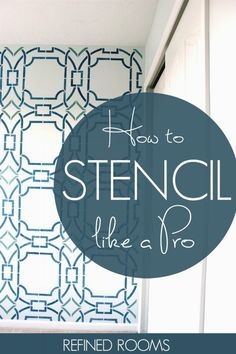 Learn how to stencil a wall like a pro with these stenciling tips and tricks   #DIY #Stenciling #wallstencil #focalwall