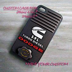 Cummins Dodge Turbo Diesel Engine 5.9L, iPhone 4 Case, iPhone 4s Case, iPhone 5 Case, Samsung Galaxy S3 i9300, Samsung Galaxy S4 i9500