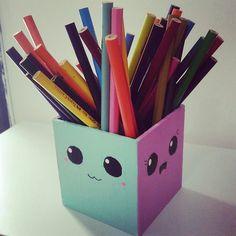 Porta lápis diy