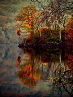 Autumn at Loch Lomond in Scotland