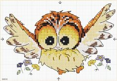 Ollie owl flying 1
