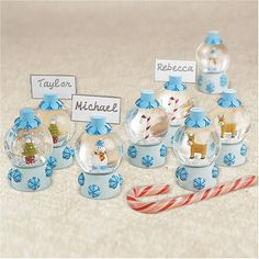 Christmas Wedding Decorating Ideas Utterly Delightful Is The Only Way To Describe Snow Globe Place Card Holders A Wonderful Detail For Winter Or Holiday