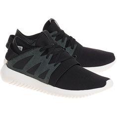 ADIDAS ORIGINALS Tubular Viral Black // Flat sneakers (\u20ac109) ? liked on