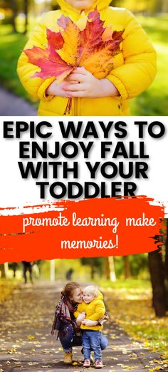Are you ready for cooler weather and playing in the leaves?  These toddler friendly outdoor play ideas are perfect for autumn.  They promote toddler learning while having fun and exploring in nature. Toddler Development, Toddler Learning, Fall Weather, Play Ideas, Outdoor Play, Exploring, Have Fun, Leaves, Autumn